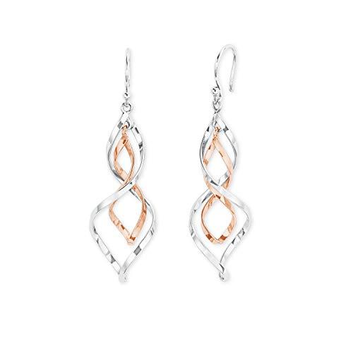 amor Ohrring für Damen aus Silber 925 bicolor