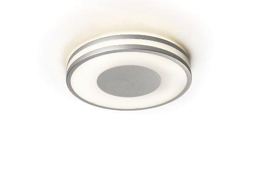 Philips myLiving Being energiebesparende plafondlamp met 40 W, inclusief lampen, 1 lamp, aluminium, 326104816
