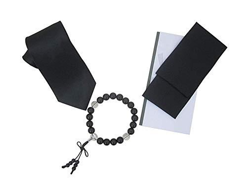 FORMAL【フォーマル】高級礼装セット 礼装 葬祭 数珠セット フォーマル4点セット 数珠 ブラックネクタイ 喪章 香典袋 葬祭セット