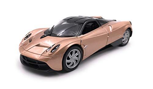 Onlineworld2013 Modellauto Paganai Huayra Hypercar Gold Auto Maßstab 1:34-39 (lizensiert)