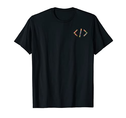 Coder gift, Software Computer Programmer simple small logo Camiseta