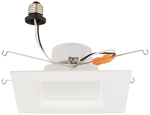 Goodlite G-83454 6 Inch Square Retrofit LED Recessed Lighting Fixture, 5000K Super White, Fully Dimmable Downlight, UL Listed, 16W (120W Replacement) CRI 90 1200Lm