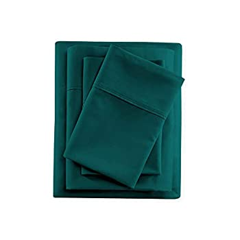 SGI bedding Full Size Sheet Set - 100% Cotton Luxury Soft Bed Sheets 400 Thread Count Teal Solid