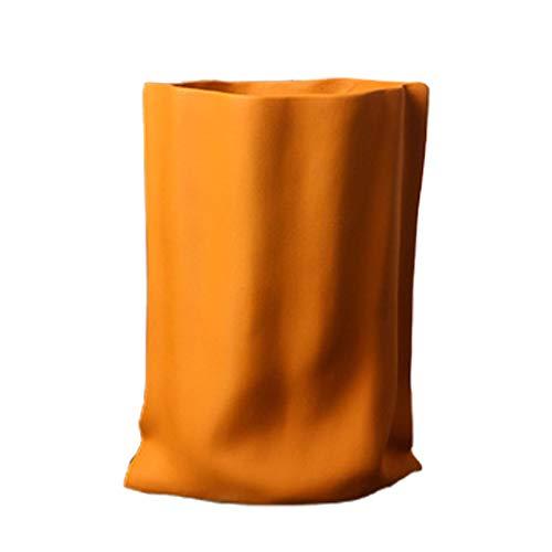 Keramik-Blumenkorb, nordischer Stil, einfacher und stilvoller Blumentopf, Vase, Pflanztopf für Heimdekoration, handgefertigtes Geschenk zum Einzug, 13 cm (Durchmesser) x 23,4 cm (Höhe)