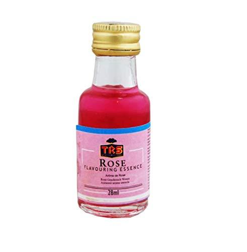 TRS Rose Essence   Versatile   Aggiungi sapore   vegano   senza glutine (GF)   perfetto per bevande rose, lassi, budino di riso   ideale per cuocere il pH o cucinare   Bottiglia da 28 ml