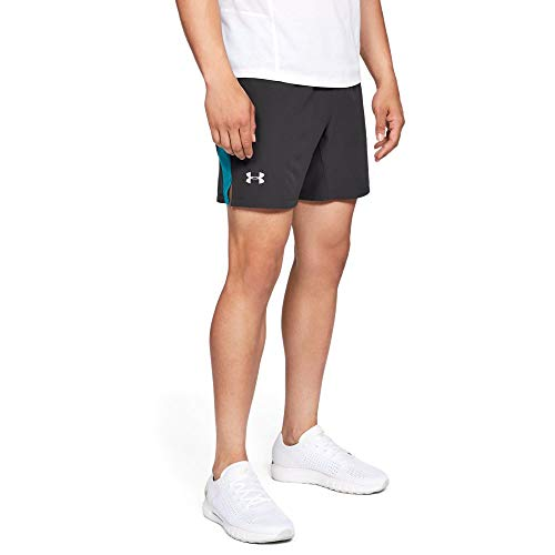 Under Armour Men's Speedpocket Swyft 7' Shorts , Charcoal (019)/Reflective, X-Large