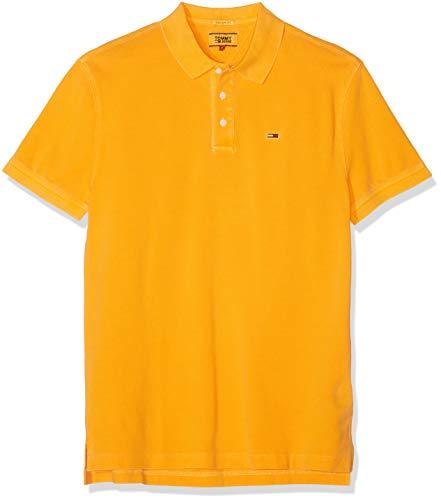 Tommy Hilfiger Tjm Essential Garment Dye Polo, Giallo (Radiant Yellow 704), S Uomo