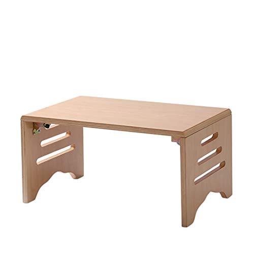 Tables basses Bois Massif Petite Mini Chambre Petit Appartement étude Balcon Salon créatif lit Bureau d'ordinateur, Pliable