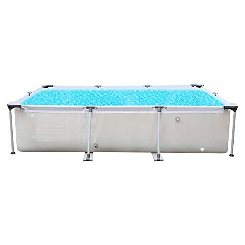 Sekey Rectangular Steel Pro Frame Pool, Grau Aufstellpool ohne Pumpe - 300 x 207 x 65 cm