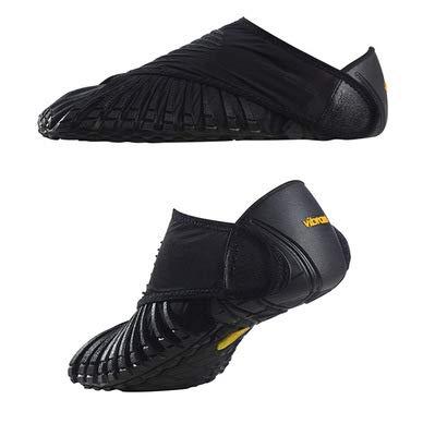 YIIYU Five-Finger Shoes, Furoshiki Wrap Shoes, Men and Women Shoes, Dressing Cloth Shoes, Portable Folding Cloth Shoes,Black,S