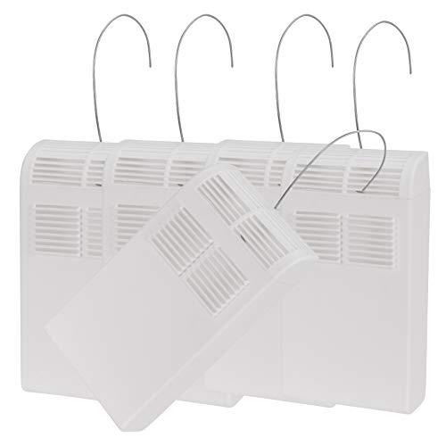 Luftbefeuchter im 5er Set mit Befestigungshaken für Heizkörper in unauffälligem weiß für besseres Raumklima in beheizten Räumen