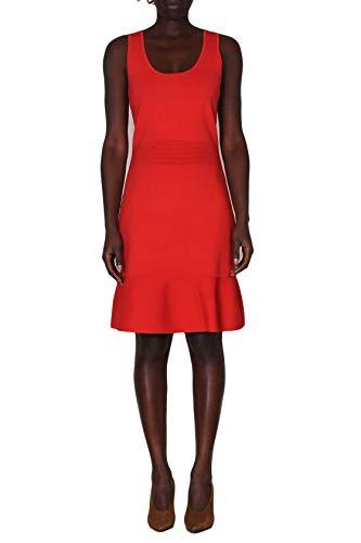 Michael Kors Kleid Longuette gefüttert elastisch, Rot M