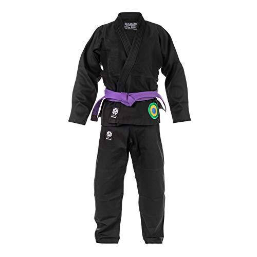 Role Bonito Kimono Jiu-Jitsu Brasileño Negro Essential (BJJ Gi) Talla A3