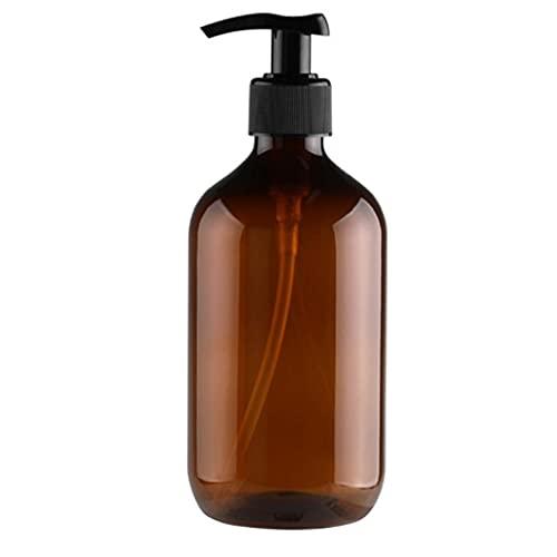 BRAVOSOLEIL Vide Flacon Pompe Lotion Shampooing Liquide Rechargeables Distributeur Gel Douche Conteneur 300ml Brown