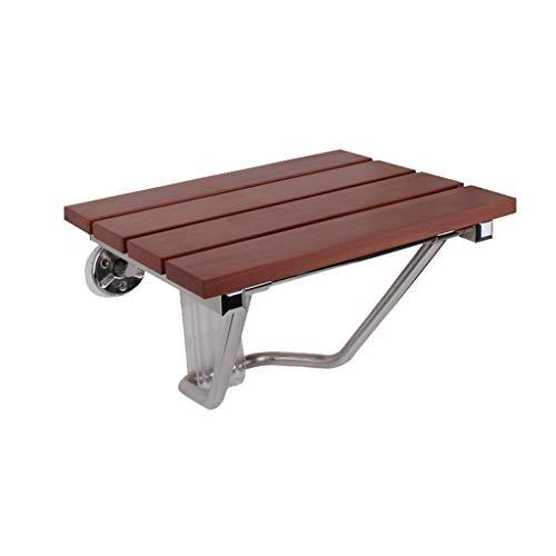 DNSJB houten douchestoel met muurbevestiging, opklapbare badstoel, badkamerhulp badbank, 38 x 33,8 x 29 cm