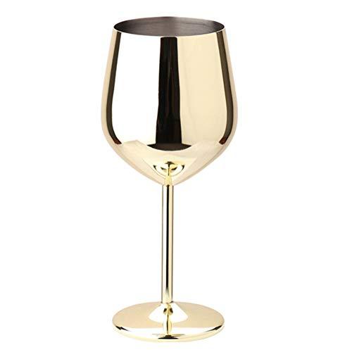 Cocina de una sola capa al aire libre de 500 ml de champán de champán de acero inoxidable de acero inoxidable fácil de limpiar copa para beber copas de vino de la barra de la barra de las gafas de fie