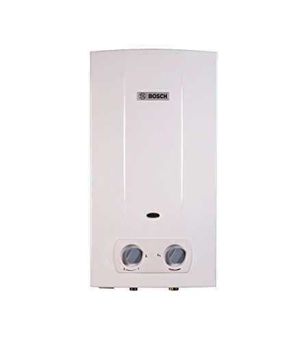 Bosch 7736504548 Scaldabagno Hydrobattery Metano Camera Aperta, Bianco