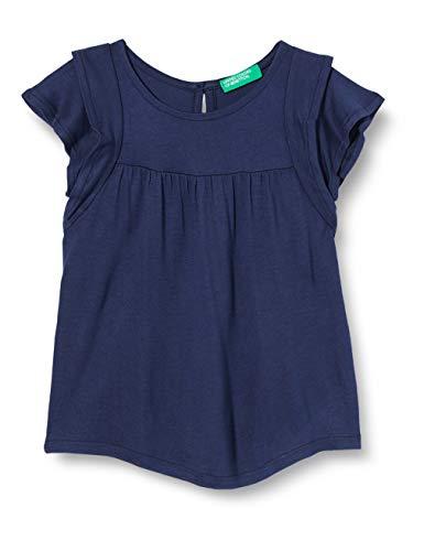 United Colors of Benetton Maglia M/m Camiseta de Tirantes, Azul (Peacoat 252), 86/92 (Talla del Fabricante: 2Y) para Bebés