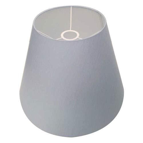 Lampenschirm aus Stoff Baumwolle hell blau 40 cm Durchmesser oben 30 cm hoch E27 Fassung Aufnahme oben konisch Trichter Form Design klassisch für Tischlampe oder Stehlampe