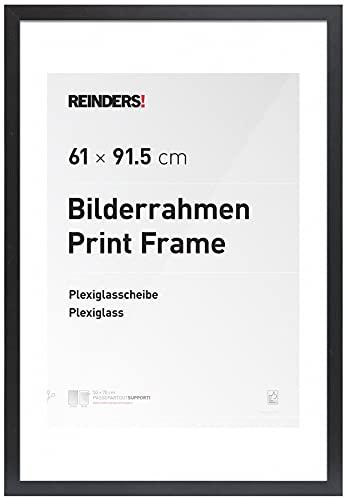 REINDERS Bilderrahmen Poster 61 x 91,5 cm - Posterrahmen aus Holz Schwarz