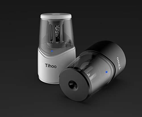 『Tihoo電動シャープナー 鉛筆削り USB充電 ムダ削り防止 子供 学校 事務用(白)』の6枚目の画像