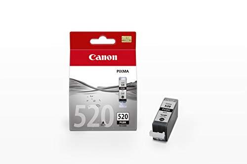 Canon PGI-520 Cartucho de tinta original Negro para Impresora de Inyeccion de tinta Pixma MX860-MX870-MP540-MP540x-MP550-MP560-MP620-MP620B-MP630-MP640-MP980-MP990-iP3600-iP4600-iP4600x-iP4700