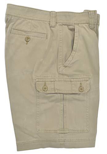St. John's Bay Men's Power Stretch Cargo Shorts (British Khaki) (34)