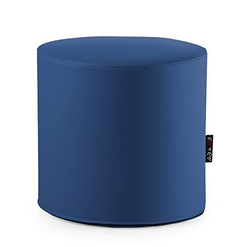 Lune Pouf rond en cuir synthétique Adapté à assise et repose-pieds mis.44 x H.42 cm.Déhoussable avec éclair sur le fonds intérieur polyuréthane Indéformable à haute densité 'disponible en 10 couleurs adapté pour séances d'adultes et enfants bleu
