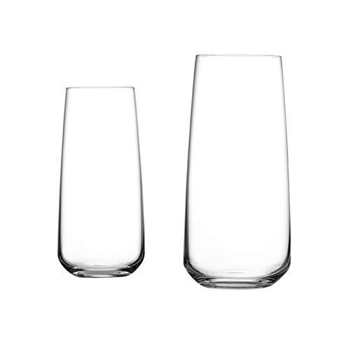 ZZL Jarra Cerveza Taza de Cerveza Pinte Pub Glass Classics para Bares Partes Inicio Regalo de Cerveza (Color : Clear1+Clear1)