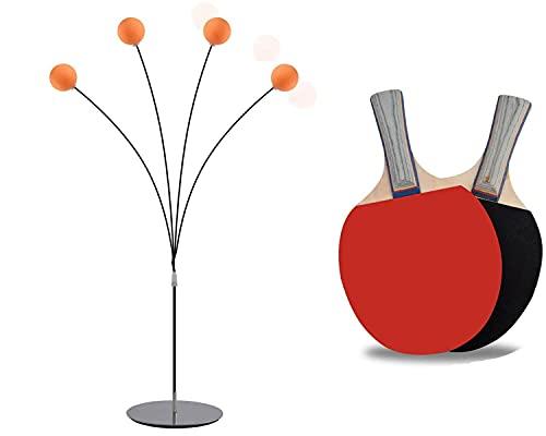Duyifan Equipo de Entrenamiento de pádel Equipo de Rebote Robot, Ping Pong Table Tennis Trainer Equipo de Entrenamiento Kit, Entrenador de Tenis de Mesa de visión de Eje Blando elástico móvil