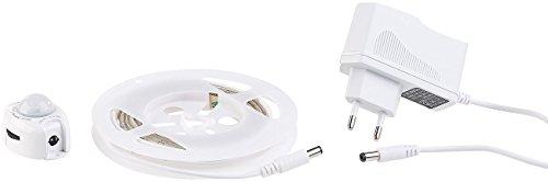 Lunartec Unterbettbeleuchtung: LED-Bettlicht für Einzelbett, Bewegungssensor, 1,2 m, kürzbar, 36 LEDs (Bettbeleuchtung)