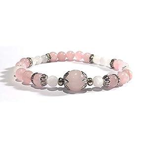 Handmade Rose Quartz and Moonstone Healing Bracelet
