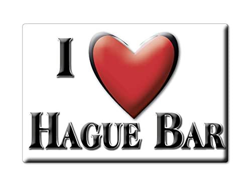 Enjoymagnets Hague Bar (Eng) Souvenir IMANES DE Nevera Inglaterra England IMAN Fridge Magnet Corazon I Love