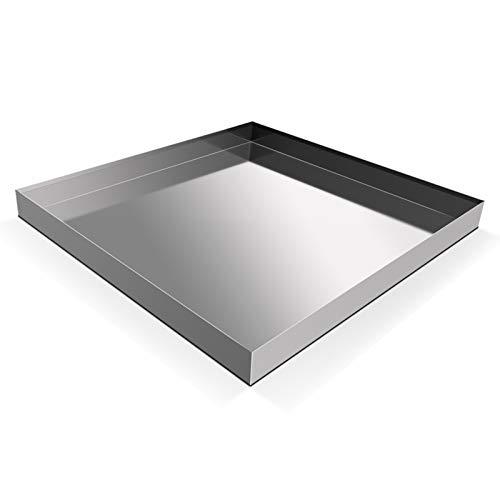 "28"" x 30"" x 2.5"" Heavy Duty 304 Stainless Steel Washer Machine Drip Drain Pan Floor Tray with anti-slip bottom pad, No Hole"
