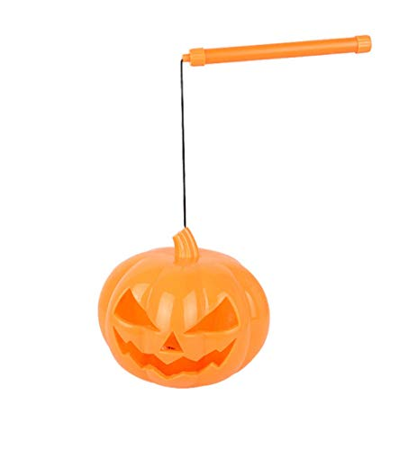 WFTD Kürbis Tragbare Laterne, Grimace Smiley Kürbis Licht, Mit Ton, Halloween Horror Grimace Light,Orange,Small