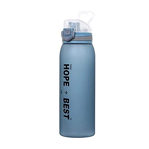 Botella Agua Gimnasio Botella Lindo Botella de Agua Corriendo Botella Deporte Taza de Agua Los niños Botellas de Agua Pequeña Botella de Agua Blue,900ml
