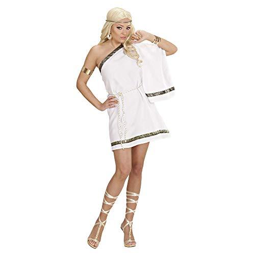 Widmann 77103 ? Adultes Costume Déesse Grecque, Chiffon de Robe avec bandoulière et Ceinture Taille L