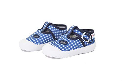 SUPERGA Scarpe Sandalo Baby Occhio di Bue Tessuto Blu S21I364- Blu