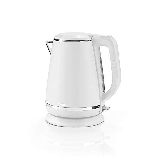 Cuisinart Wasserkocher mit 1,5L Fassungsvermögen, 3kW Leistung für schnelles Aufkochen, Kalkwasserfilter und 360° Standfuß, warmes weiß, CJK429WE