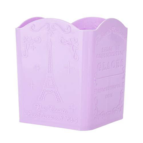 Cosmetic Storage-Papeterie Boîte de rangement for organiseur de bureau à motif Tour Eiffel for cosmétiques et outils de manucure (3 couleurs) (Couleur : Purple)