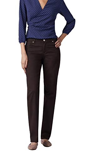 LEE Women's Relaxed Fit Straight Leg Jean, mahogany, 4