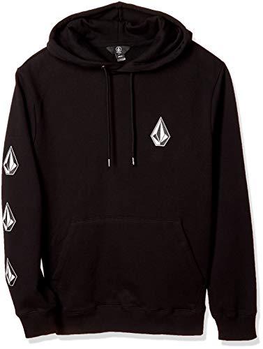 Volcom Men's Deadly Stones Hooded Fleece Pullover Sweatshirt, BLACK, XXLARGE