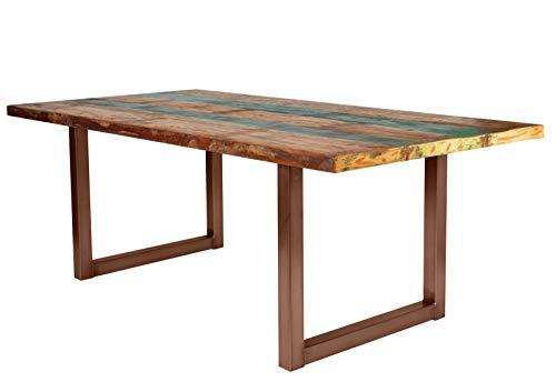 SIT-Möbel 7188-98 + 7112-00 Table de Table en Bois d'Althold Multicolore 180 x 100 x 77 cm Plateau laqué Châssis Marron Antique composé de 7188-98 + 7112-00 Épaisseur 4 cm