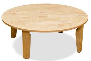 [昔ながらの食卓用テーブル] ちゃぶ台 折りたたみ式円形テーブル (ナチュラル/NA)