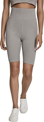 Urban Classics Damen Ladies Radler-Hose High Waist Cycle Shorts, green/grey, M