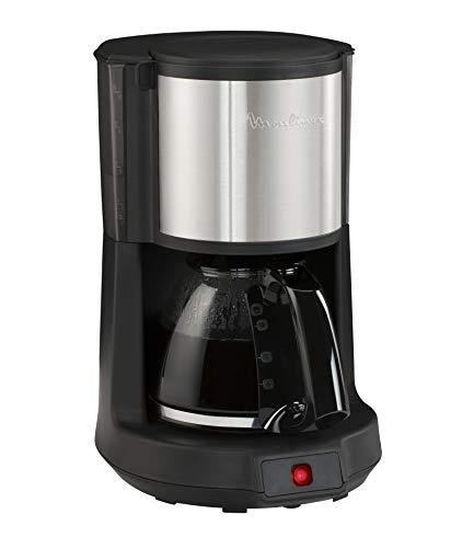 Moulinex Subito 4 Cafetera de filtro Inox, capacidad para 12 tazas, dispositivo antigoteo de salida del café, 14 Cups, Acero Inoxidable