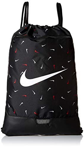Nike Polyester 33 cms Black/Black/White Gym Shoulder Bag (BA6048-011)