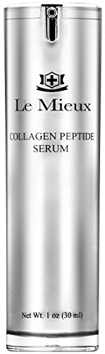 Le Mieux Collagen Peptide Serum - Concentrated, Creamy Anti Aging Face Serum with Skin Contouring Peptides & Moisturizing Hyaluronic Acid, No Parabens or Sulfates (1 oz / 30 ml)