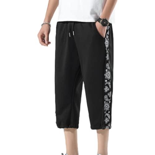 Pantaloncini Stampati di Tendenza da Uomo Moda Larghi Sottili Comodi Esercizio Pantaloncini Sportivi Dritti Casual di Base Sottili Estivi XXL