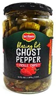 Del Monte Blazing hot Ghost Pepper Pickle Chips 24 oz ( 2 pack )
